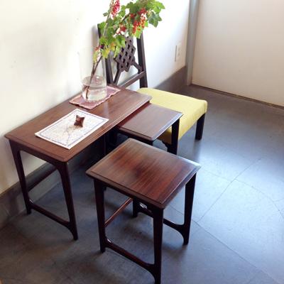 ネストテーブル、マルニ、ヴィンテージ家具、ネストテーブル、ジャパニーズモダン、ローズウッド