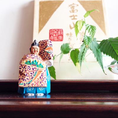骨董、ヴィンテージ、奈良一刀彫、翁、人形、木彫り、伝統工芸、能