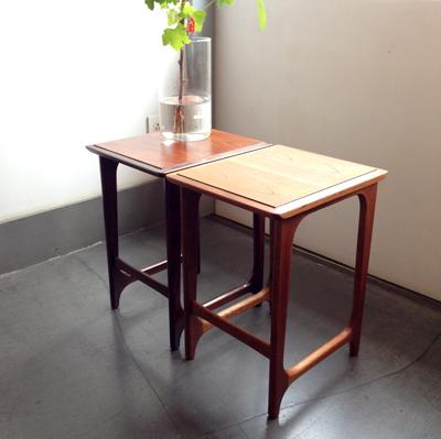 マルニ、ヴィンテージ、ネストテーブル、サイドテーブル、チーク、ローズウッド、北欧スタイル