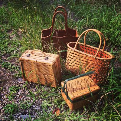 tokyocraftmarket、ヴィンテージ、クラフト、竹かご、竹かごバッグ、竹弁当箱、うちわ、染織、手工芸、日本の夏