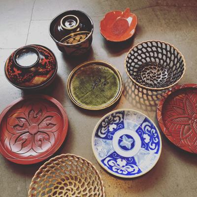 ヴィンテージ、和食器、クラフト、民芸、漆器、織部