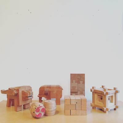 ヴィンテージ、山中組木、パズル、木の玩具