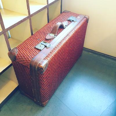 柳行李、行李トランク、旅行鞄、アンティーク、ヴィンテージ、寅さん