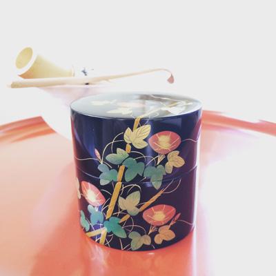 茶道具、棗、漆器、蓋物、朝顔、古道具、しつらえ、蒔絵