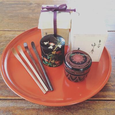 茶道具、棗、漆器、蓋物、朝顔、古道具、しつらえ