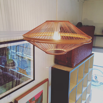 ヴィテージ、竹照明、ペンダントランプ、竹細工、竹工芸、ハンドクラフト