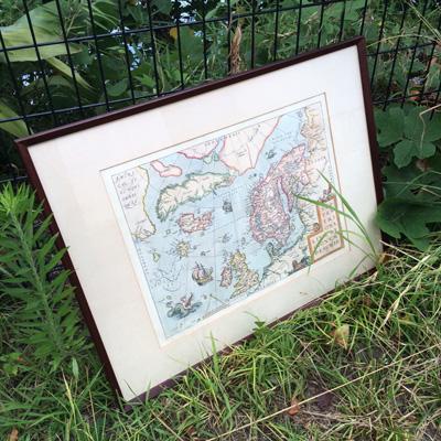 北欧の古地図、アンティークフレーム