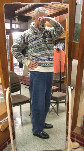 ジャミーソンズ衿付きセーター