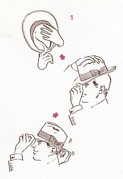 帽子の被り方