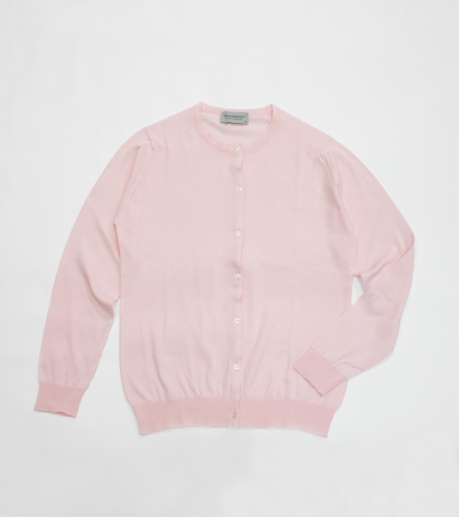 ジョンスメドレーカーディガンCATANIAドレスシャツピンク