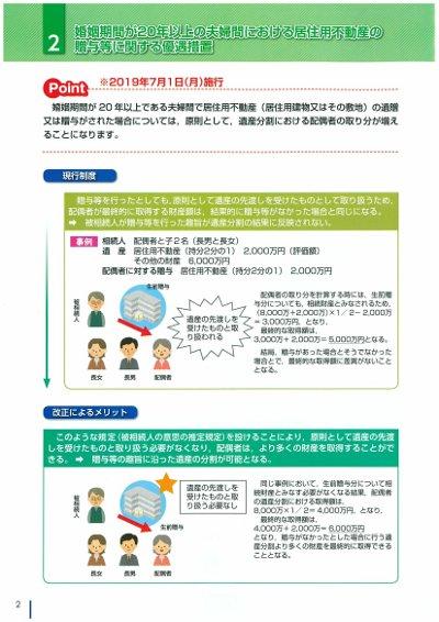 相続法改正〜居住用不動産の贈与等に関する優遇措置〜