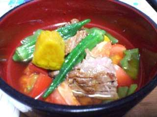 夏野菜と鶏肉の冷やし鉢
