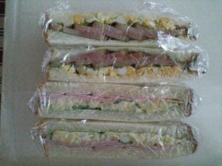 ハムポテトサラダ&焼き豚玉子