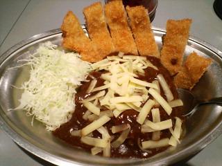 カツカレー+チーズ