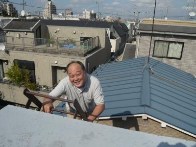 屋上に登る