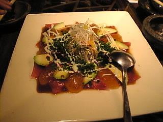 呑菜「マグロとアボガドのカルパッチョ」
