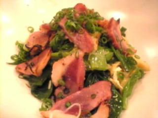 魚金本店「合鴨とネギのサラダ」