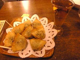 神谷バー_餃子とデンキブラン