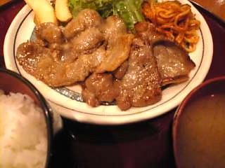 お食事処 ゆき_生姜焼き定食