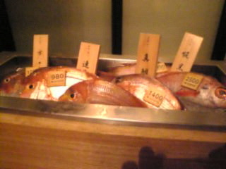 天地旬鮮 八吉 新橋店「旬の魚ワゴンサービス」