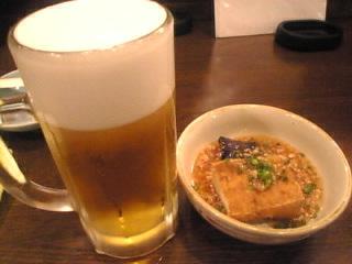 鳥まつ「生ビール」