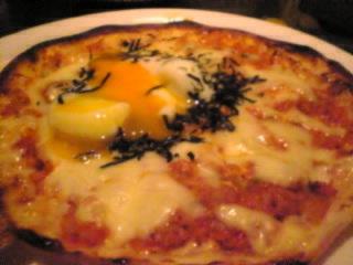 隠れ野 池袋西口店「キムチ入りピザ」