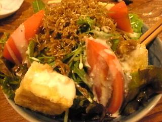 山猿「ジャコと水梨のサラダ」