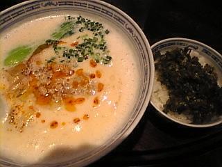 香港麺_新記_台場店「坦々麺&高菜ごはん」