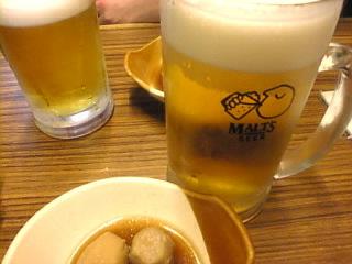 とり茂「プレミアムモルツ生ビール」