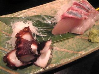 魚神_新橋店「タコブツ、カンパチ」