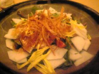 自然物語 ごだいご ニュー新橋ビル店「サラダ春菊と有機カブのサラダ」