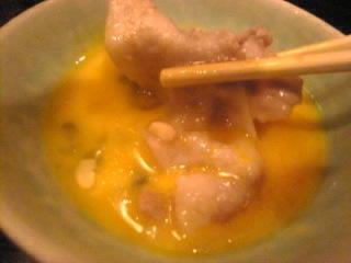 つきじ植村_洋玄「豚すき焼き&生卵」