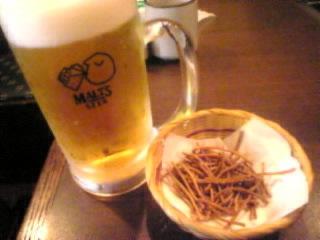 信州そば処 そじ坊「モルツ生ビール」