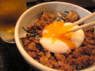信州そば処 そじ坊「鶏そぼろかけご飯」