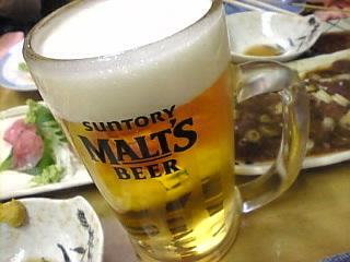 とり茂「モルツ生ビール」