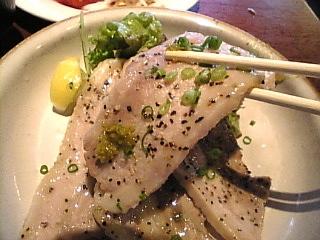 御八 晴海トリトン「豚肉の炙り焼き」