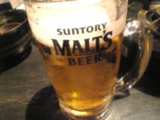もつ福 浜松町店「生ビール」