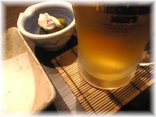 新橋 和風居酒屋 魚豊「生ビール」.jpg