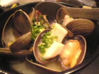 北海料理 石狩「アサリの酒蒸し」