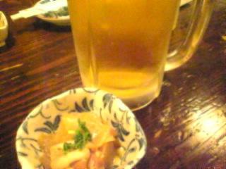 十徳 西新宿「生ビール&突き出し」