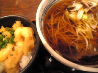 信州そば処_そば野_トリトン「小海老天丼定食」
