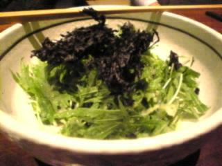 鳥どり_池袋東口店「水菜と岩海苔の大根サラダ」