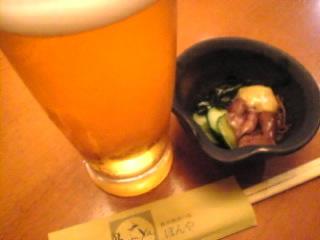 ぼんや 新宿三丁目「生ビール&お通し」.jpg