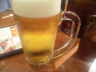 新宿 ねぎし「生ビール」