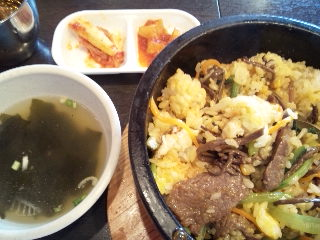 韓国家庭料理 チェゴヤ「石焼カルビ丼ランチセット」