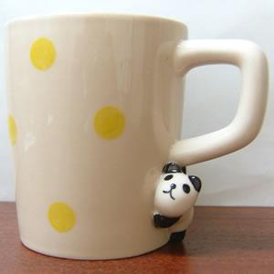 のぞき見マグ パンダの表面画像