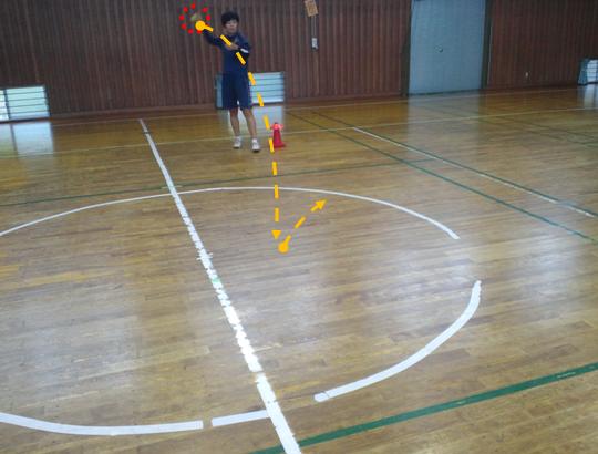 ボールを跳ぶ1