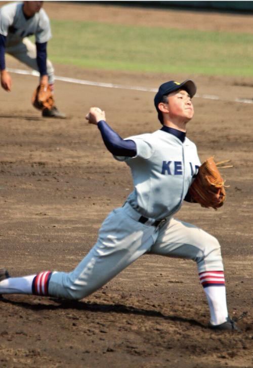 原田匠投手(慶應義塾3年)