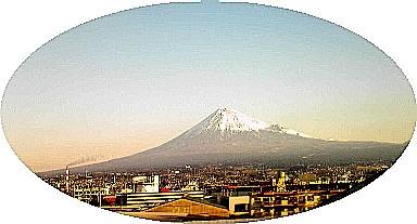 出張の時に新幹線から見えた富士山