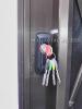 KABA 6700E アルミ採風勝手口ドア取付例 外部